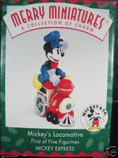 Hallmark 1998 Merry Miniatures Mickey'S Locomotive Disney Nib