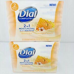 4 Bars Dial Manuka Honey Soap Moisturizing & Antibacterial 2 in 1 Beauty Bar Lot