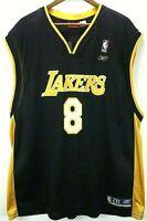 NEW Authentic Reebok NBA Los Angeles Lakers #8 Kobe Bryant Jersey Mens XXL Black