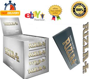 Kit 5000 Cartine Corte Rizla Argento Silver Grigio Misura Corta 100 LIBRETTI