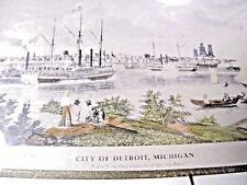 William James Bennett (1787-1844) Detroit From Canada Shore Near Ferry