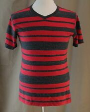 No Boundaries, Small (34/36) Red/ Charcoal Stripe Shirt