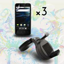 Car Mount Cradle Holder + LCD Screen Protector Film for LG Optimus G2X P999 P990