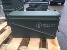 Ammo Ammunition Box Tin 50 Cal 40 mm  Army Storage Tool Box GRADE 1+