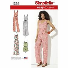 Simplicity 1355 Size a Misses Maxi Dress and Long or Short Jumpsuit Sewing Patte