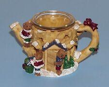 CHRISTMAS DECORATION TEDDY BEAR TREE CANDLE LITE VOTIVE TEAPOT HOLDER ADORABLE!