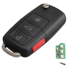 Flip Key Keyless Entry Remote 48 Fob 315MHz For Volkswagen HLO1J0959753AM