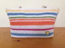The Sak Collective Hand Crocheted Stripe Colorful Rainbow Small Handbag Purse