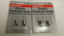 2-2-Packs Brinkmann 4D Krypton Super High-Intensity Gas Filled Flashlight Bulbs