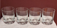 Double Old Fashioned Whiskey Rocks Glass Set of 4 Heavy Bottom Clear Glass