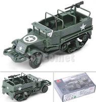 WWII US M3 Half-Track Military Armor Vehicle 1:72 Plastic Model Kit