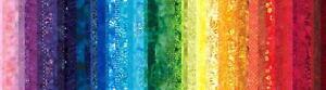 Hoffman Waves 2 Digital Spectrum Print T4886-181 Rainbow Stripes Cotton Fab BTY