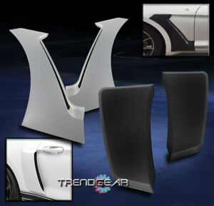 15-17 FORD MUSTANG GT-STYLE FRONT + REAR SIDE DOOR FENDER SCOOP TRIM GUARD COMBO