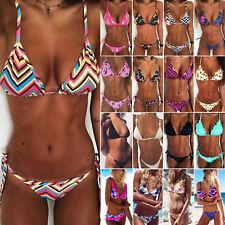 Women Sexy Brazilian Bikini Set Swimwear Padded Bra Beach Swimsuit Bathing Suit