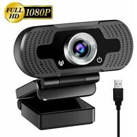 HD Webcam Computer Web Camera For PC Laptop Video Cam Microphone 1080P 30fps