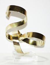 Dan Murphy Signed Modernist/Abstract Brass Ribbon & Lucite Sculpture-1978
