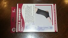 OTC - ANKLE SUPPORT Brace WRAPAROUND STRAP BLACK sz MEDIUM 2547 NEW