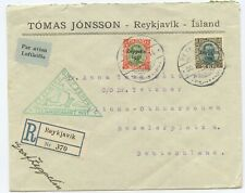 Island Zeppelin R Brief Islandfahrt 1931 Reykjavik Altona