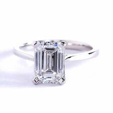 En Oferta 1.00CT Vs2 G Corte Esmeralda Petite Anillo de Compromiso Diamante