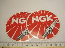 2 Aufkleber Sticker NGK Zündkerze