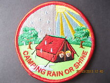 RAINBOWS/BROWNIES/GIRL GUIDES:~ CAMPING RAIN OR SHINE ~ FUN BADGE