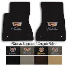 Cadillac CTS 2pc Velourtex Carpet Front Floor Mat Set - Choose Color & Logo