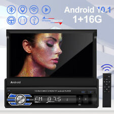 Single 1Din Android10.1 Flip up Car Stereo Radio 7