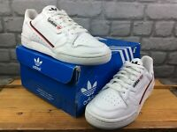 ADIDAS MENS UK 7 EU 40 2/3 CONTINENTAL J 80 WHITE RED BLACK TRAINERS RRP £70 M