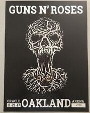 Guns N' Roses Gnr 2017 Concert Poster 11-21-17 Oakland, Ca Oracle Arena Le #/300