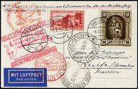 Zeppelin Saargebiet 1933 4. Südamerikafahrt Zuleitung Anschlussflug Si 223 B/764