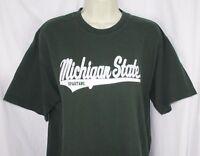 MSU Michigan State Spartans T-Shirt Embroidered Logo NCAA Dark Green Unisex M