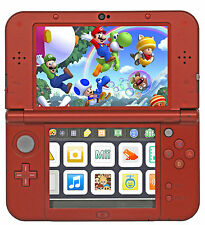 New Nintendo 3DS XL Red Bundle + AC Adapter