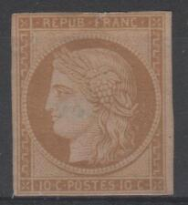 "FRANCE STAMP TIMBRE N° 1 "" CERES 10c BISTRE- JAUNE 1850 "" NEUF (x) A VOIR  N288"