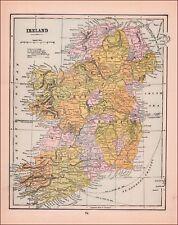IRELAND, ANTIQUE MAP, ORIGINAL 1902