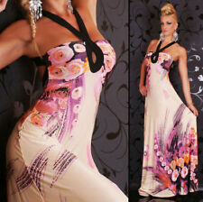 Polyester Halter Neck Dresses Backless