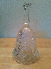 Vintage crystal cut glass bell, 7""