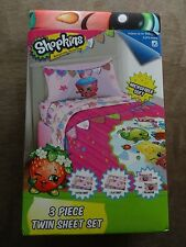 Shopkins Microfiber Soft Twin Sheet Set-3 Piece Set-Free Shipping-New