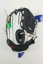 "Mizuno Prospect Finch Series Youth Leather 11"" Softball Glove White/Black/Pink"