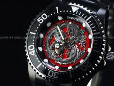 New Invicta Men's 47mm Grand Diver Dragon Automatic Triple Black 100M SS Watch