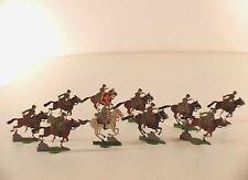 Heirichsen Lot de 10 soldats cavaliers armée suisse métal ancien 28 mm en étain