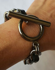 MIMCO ~ PUNKLOVE CHAIN BRACELET ~ CHUNKY TOGGLE ~ AS NEW ~ RARE FIND ~ 21cm