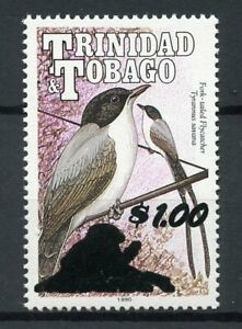 Trinidad & Tobago 2018 MNH Fork-Tailed Flycatcher $1 OVPT 1v Set Birds on Stamps