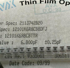 3 pièces AVX 6,8pf/100v tol 0,25pf 1210 smd rf/Microwave thin film cap (m1624)