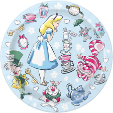 Alice In Wonderland Teaparty Small Cake Plates - pack of 8