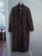 Vintage leather long trench coat by Laurice, sz M. Rare find in brown. Unisex.
