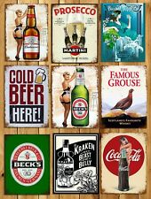 Metal signs plaques vintage retro style Beer bar Becks mancave home wall decor