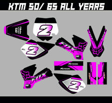 KTM SX 50 SX 65 FULL GRAPHICS KIT DECALS MOTOCROSS STICKERS ALL YEARS PINK