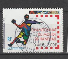 Timbre oblitéré YT 3367 Championnat du monde de handball 2001