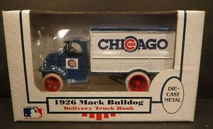 NOS 1990 ERTL Chicago Cubs 1926 Mack Bulldog Delivery Die Cast Metal Bank #7545