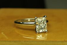 ENGAGEMENT SOLITAIRE RING 3.00 CT RADIANT CUT 14 KARAT GOLD